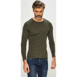G-Star Raw - Longsleeve. Szare bluzki z długim rękawem męskie G-Star Raw, z bawełny, z okrągłym kołnierzem. Za 139.90 zł.
