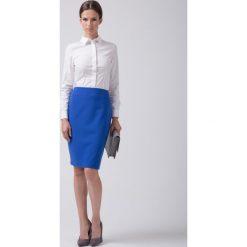 Klasyczna niebieska spódnica  BIALCON. Niebieskie spódnice damskie BIALCON, eleganckie. Za 155.00 zł.
