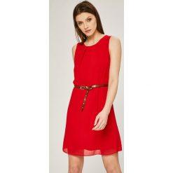 Haily's - Sukienka Tanya. Szare sukienki damskie Haily's, w paski, z materiału, casualowe, z okrągłym kołnierzem. W wyprzedaży za 69.90 zł.