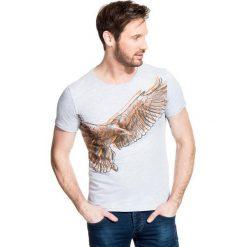 T-shirt STEFANO TSPR000025. Szare t-shirty męskie Giacomo Conti, z motywem zwierzęcym, z bawełny. Za 79.00 zł.