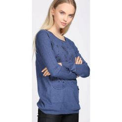 Niebieski Sweter Purpose. Niebieskie swetry damskie Born2be, na jesień. Za 49.99 zł.