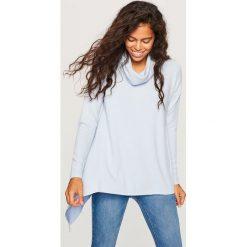 Sweter z szeroką stójką - Niebieski. Swetry damskie marki KALENJI. W wyprzedaży za 59.99 zł.