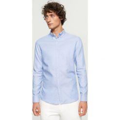 Koszula z bawełny oxford slim fit - Niebieski. Koszule męskie marki Giacomo Conti. Za 99.99 zł.