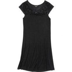 Koszula nocna z wiskozy bonprix czarny. Czarne koszule nocne damskie bonprix, z wiskozy. Za 59.99 zł.