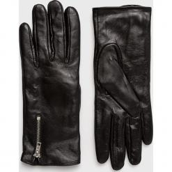 Vero Moda - Rękawiczki skórzane. Czerwone rękawiczki damskie Vero Moda, z materiału. Za 169.90 zł.