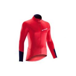 Koszulka długi rękaw na rower ROADCYCLING 500 męska. Czerwone bluzki z długim rękawem męskie B'TWIN. Za 79.99 zł.