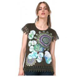 Desigual T-Shirt Damski L Khaki. Brązowe t-shirty damskie Desigual. W wyprzedaży za 139.00 zł.