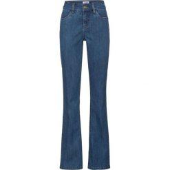 Wygodne dżinsy ze stretchem i efektem push-up BOOTCUT bonprix niebieski. Jeansy damskie marki bonprix. Za 74.99 zł.