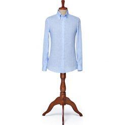 Koszula Niebieska Rush. Niebieskie koszule męskie LANCERTO, na lato, ze lnu, button down. W wyprzedaży za 199.00 zł.