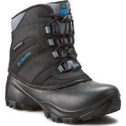 Śniegowce COLUMBIA - Youth Rope Tow III Waterproof BY1322 Black/Dark Compass 010. Buty zimowe dziewczęce marki Columbia. W wyprzedaży za 209.00 zł.