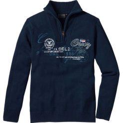Sweter ze stójką Regular Fit bonprix ciemnoniebieski. Swetry przez głowę męskie marki Giacomo Conti. Za 74.99 zł.