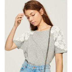 T-shirt z aplikacją na rękawach - Jasny szar. T-shirty damskie marki DOMYOS. W wyprzedaży za 19.99 zł.