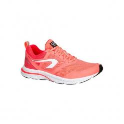Buty do biegania RUN ACTIVE damskie. Czerwone obuwie sportowe damskie KALENJI, z gumy. W wyprzedaży za 79.99 zł.