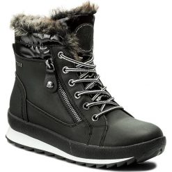 Śniegowce CAPRICE - 9-26205-29 Black Comb 019. Kozaki damskie Caprice, z materiału. W wyprzedaży za 259.00 zł.
