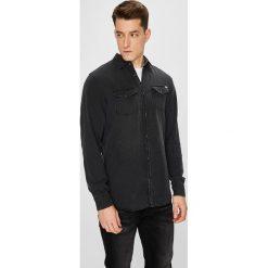 Jack & Jones - Koszula. Czarne koszule męskie Jack & Jones, z bawełny, z klasycznym kołnierzykiem, z długim rękawem. W wyprzedaży za 139.90 zł.