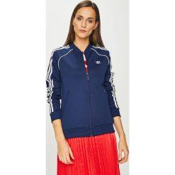 Adidas Originals - Bluza. Szare bluzy damskie adidas Originals, z aplikacjami, z bawełny. Za 279.90 zł.