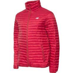 Kurtka puchowa męska KUM003 - czerwony. Czerwone kurtki męskie 4f, z materiału. W wyprzedaży za 249.99 zł.