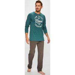 Tom Tailor Denim - Piżama. Szare piżamy męskie Tom Tailor Denim, z nadrukiem, z bawełny. Za 169.90 zł.