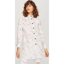 Koszula we wzory - Biały. Białe koszule damskie Reserved. Za 89.99 zł.