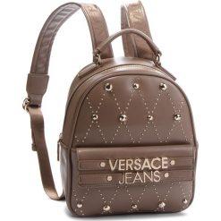 Plecak VERSACE JEANS - E1VSBBE7 70778 148. Brązowe plecaki damskie Versace Jeans, z jeansu, eleganckie. Za 789.00 zł.