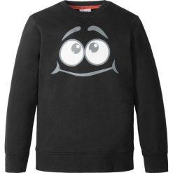 Bluza z modnym nadrukiem bonprix czarny. Bluzy dla chłopców bonprix, z nadrukiem. Za 32.99 zł.