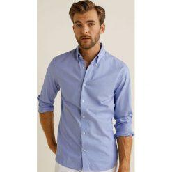 Mango Man - Koszula Quiana. Szare koszule męskie Mango Man, z bawełny, button down, z długim rękawem. Za 199.90 zł.