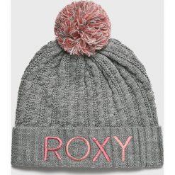 Roxy - Czapka. Szare czapki i kapelusze damskie Roxy, z dzianiny. Za 139.90 zł.