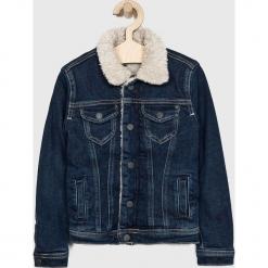 Pepe Jeans - Legginsy dziecięce 122-178/180 cm. Czarne kurtki i płaszcze dla dziewczynek Pepe Jeans, z bawełny. W wyprzedaży za 279.90 zł.