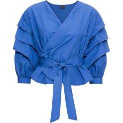 Bluzka kopertowa bonprix niebieski. Bluzki damskie marki Colour Pleasure. Za 54.99 zł.