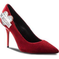 Szpilki LOVE MOSCHINO - JA10039C16IFX500 Rosso. Czerwone szpilki damskie Love Moschino, z materiału. Za 959.00 zł.