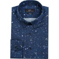 Koszula SIMONE KDGS000068. Czarne koszule męskie Giacomo Conti, z bawełny, button down. Za 199.00 zł.