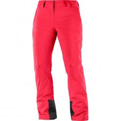 """Spodnie narciarskie """"Icemania"""" w kolorze czerwonym. Czerwone spodnie snowboardowe damskie Salomon, z haftami, z materiału. W wyprzedaży za 454.95 zł."""