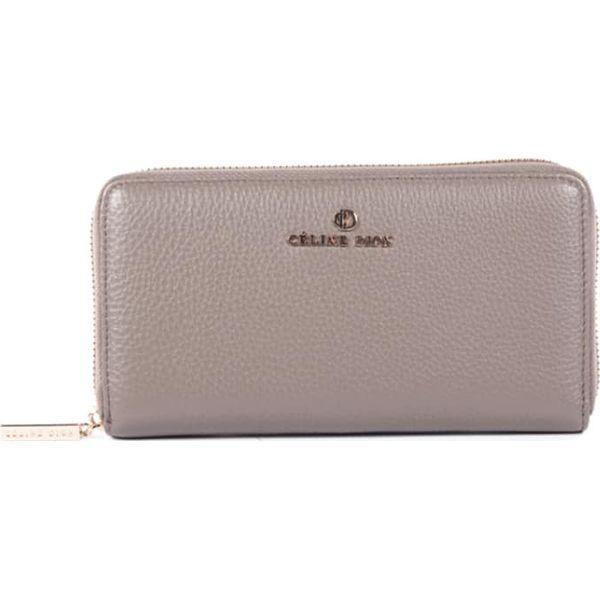 0e19a78014da7 Skórzany portfel w kolorze szarobrązowym - 20 x 10 x 2 cm - Portfele ...