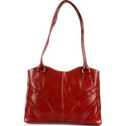 Torebka damska shopper bag z kokardą 001 różowa łososiowy