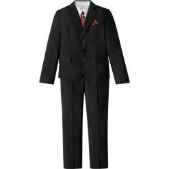 Garnitur + koszula + krawat (4 części) bonprix czarno-biały. Koszule dla chłopców marki bonprix. Za 199.99 zł.
