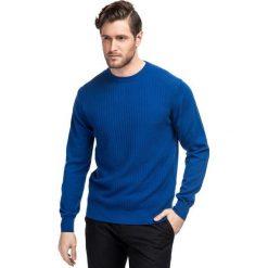 Sweter ADALBERTO SWNR000204. Niebieskie swetry przez głowę męskie Giacomo Conti, z bawełny. Za 229.00 zł.