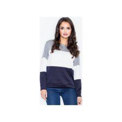 Bluza M426 Granat. Niebieskie bluzy damskie Figl. Za 99.00 zł.