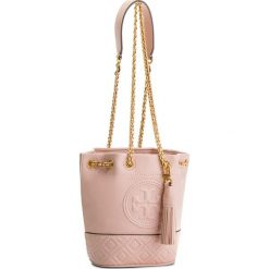 Torebka TORY BURCH - Fleming Mini Bucket Bag 49321 Shell Pink 652. Czerwone torebki do ręki damskie Tory Burch, ze skóry. W wyprzedaży za 1,059.00 zł.