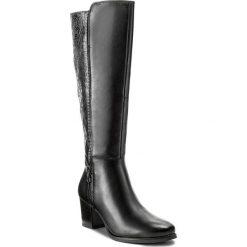 Kozaki CAPRICE - 9-25540-39 Black Comb 019. Czarne kozaki damskie Caprice, ze skóry. W wyprzedaży za 359.00 zł.