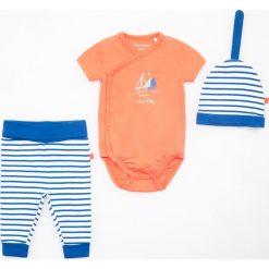 Zestaw: spodenki, body i czapka - Granatowy. Body niemowlęce Reserved. W wyprzedaży za 29.99 zł.