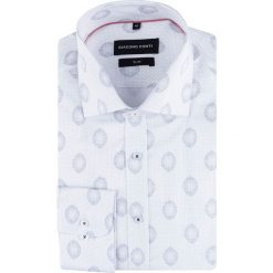 """4d781f313d3af1 Giacomo Conti. Koszule męskie. 199.00 zł. """"Biała koszula męska SIMONE w  kropki ..."""