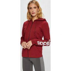 Adidas Performance - Bluza. Brązowe bluzy damskie adidas Performance, z nadrukiem, z bawełny. Za 229.90 zł.