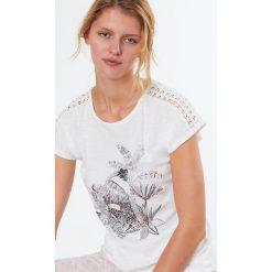 Etam - Top piżamowy Roxane. Piżamy damskie marki MAKE ME BIO. W wyprzedaży za 49.90 zł.