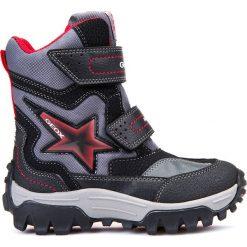 Kozaki GEOX JR LT HIMALAYA B ABX. Czarne buty zimowe chłopięce Gino Rossi. W wyprzedaży za 289.90 zł.