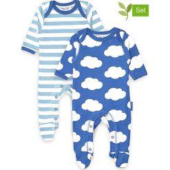 Śpioszki (2 pary) w kolorze niebiesko-białym. Śpioszki niemowlęce marki Toby Tiger. W wyprzedaży za 129.95 zł.