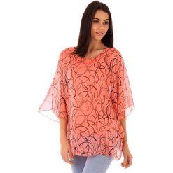 Koszulka w kolorze koralowym. T-shirty damskie 100% Soie, klasyczne, z okrągłym kołnierzem. W wyprzedaży za 130.95 zł.