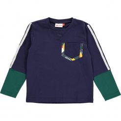 """Koszulka """"Thomas 709"""" w kolorze granatowym. Zielone t-shirty dla chłopców marki Lego Wear Fashion, z bawełny, z długim rękawem. W wyprzedaży za 59.95 zł."""