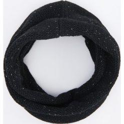 Komin - Czarny. Szare szaliki męskie marki Giacomo Conti, na zimę, z tkaniny. W wyprzedaży za 39.99 zł.