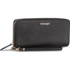 Duży Portfel Damski TWINSET - Portafoglio AS8PGS Nero 00006. Czarne portfele damskie Twinset, ze skóry. W wyprzedaży za 419.00 zł.