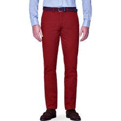 Spodnie Chino Pedro Rudy. Brązowe eleganckie spodnie męskie LANCERTO, z bawełny. W wyprzedaży za 149.90 zł.